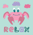 lovely of a happy crab vector image