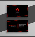 modern red and black business card template vector image vector image