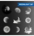 Moonlight transparent set vector image vector image