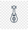 musician concept linear icon isolated on vector image
