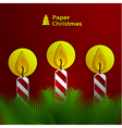 Paper Christmas candles vector image