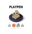 Playpen icon in different style vector image