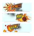 Pop Art Comic Book Design vector image vector image