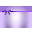 purple background with bow vector image vector image