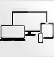 responsive design device screen vector image