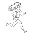 running woman fitness healthy lifestyle vector image vector image