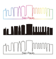 Sao Paulo V2 skyline linear style with rainbow