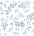 seamless botanical pattern background print vector image