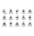 set education icon open book vector image