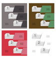 set of abstract infographics number options vector image