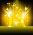 shiny star with yellow background vector image vector image