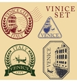 Streets in Venice Stamp set vector image vector image