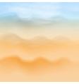 Summer sea beach background vector image
