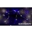 Symbol Aquarius Zodiac Sign vector image vector image