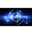 technological cybersecurity identification vector image vector image