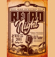 template in retro style for party with vector image