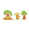 trees cartoon characters collection plant trees vector image vector image