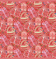 vintage new year gift paper wrapping seamless vector image vector image