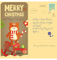 Vintage Postcard with toys vector image vector image