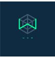 w monogram w letter web logo vector image vector image
