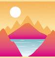 wanderlust travel landscapes vector image