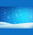 winter christmas white blue snowdrifts blurred vector image vector image