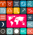 Zodiac - Horoscope Rounded Square Icons Set and vector image vector image