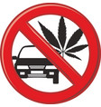 no drug for driving vector image