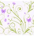 seamless florals purple vector image