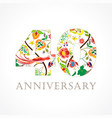 40 anniversary folk logo vector image vector image