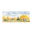 a watercolor card of autumn forest