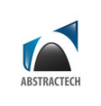 abstract technology logo concept design symbol vector image vector image