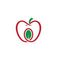 apple leaf organic logo vector image