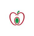 Apple leaf organic logo