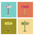 assembly flat icons sign of market car wash vector image vector image