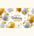 balloons birthday happy congratulation vector image