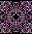 bandana ethnic design- colorful print square vector image vector image