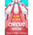 Big Circus Announcement Poster vector image vector image