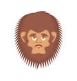 bigfoot sad emoji yeti wailful emotion face vector image vector image