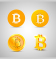 bitcoin icons set on white background vector image