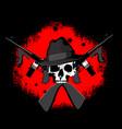 bloody mafia logo vector image