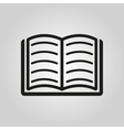 Book icon design Library symbol web vector image vector image