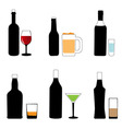 bottle and glass vector image vector image