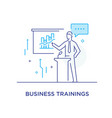 business coach at the blackboard training vector image vector image