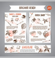 chocolate cacao sketch brochure i banners design vector image