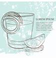 Classic sazerac cocktail scetch vector image