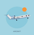 color airplane in the sky vector image vector image
