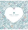 colorful bubbles heart silhouette pattern frame vector image vector image