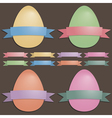 easter eggs and ribbons vector image vector image