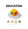 Education icon in different style vector image vector image